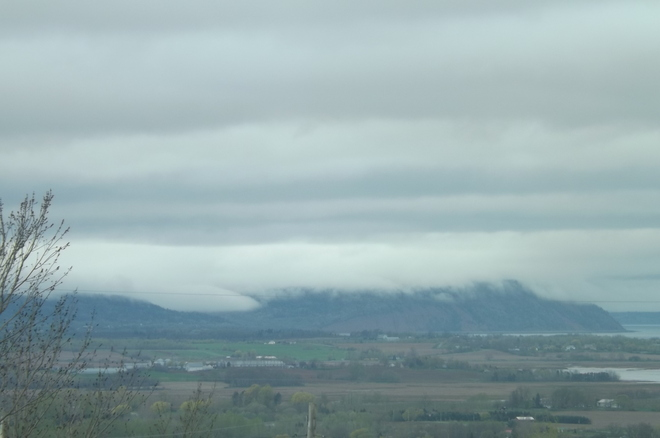 fog bank over cape blomidon Canning, Nova Scotia Canada