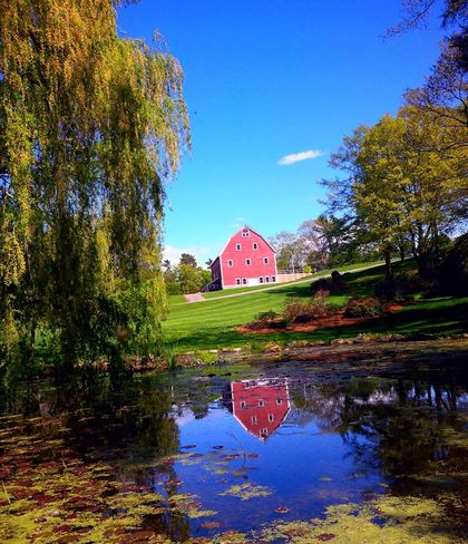 Beautiful spring day Reflections Kentville, Nova Scotia Canada
