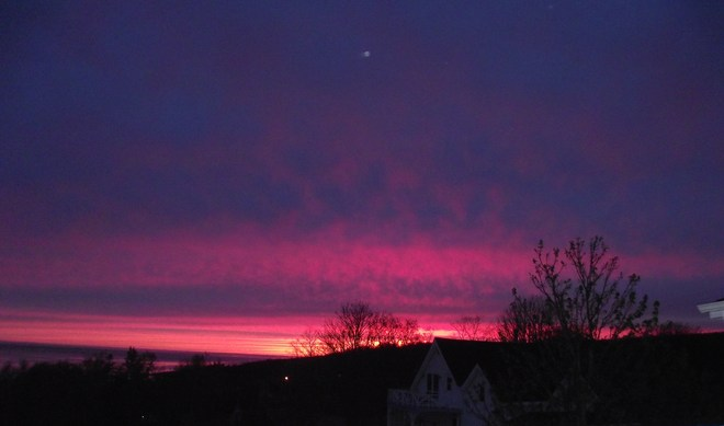 Red Sky in the morning.... Annapolis Royal, Nova Scotia Canada