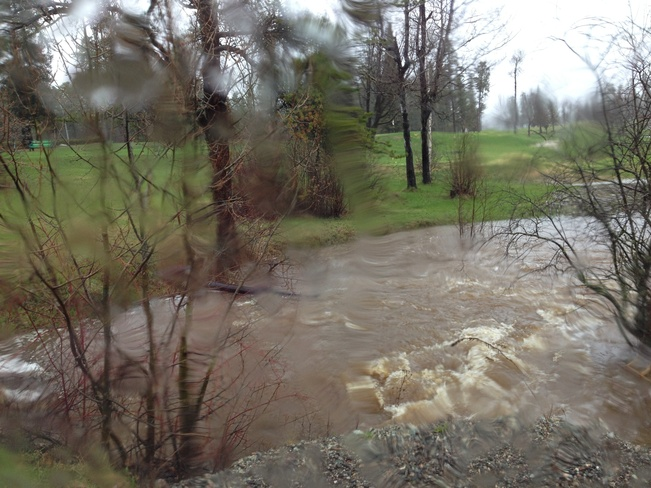 golf course flooding Atikokan, Ontario Canada