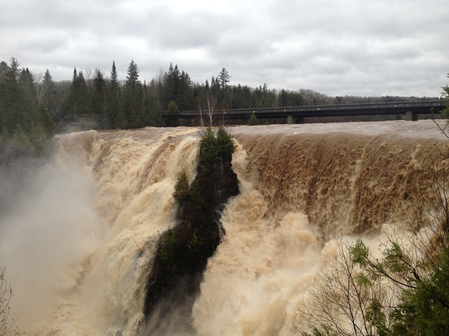 The Raging Falls in Kakabeka Thunder Bay, Ontario Canada