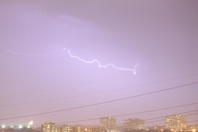 lightning Scarborough, Ontario Canada