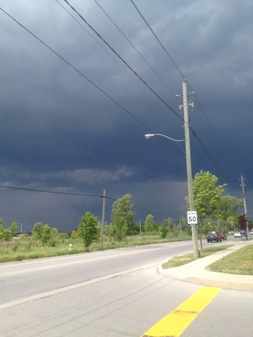 Dark Clouds Rolling In St. Catharines, Ontario Canada