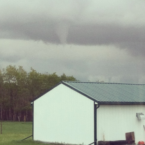 funnel cloud Grande Prairie County No. 1, Alberta Canada