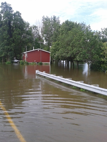 Flooding Huntingdon, Quebec Canada