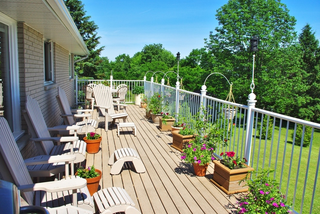 Our patio / deck Colborne, Ontario Canada
