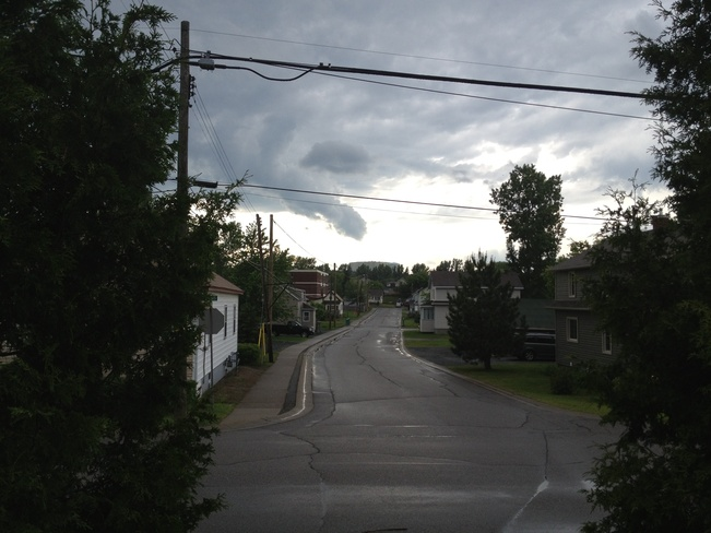 under tornado warning Greater Sudbury, Ontario Canada