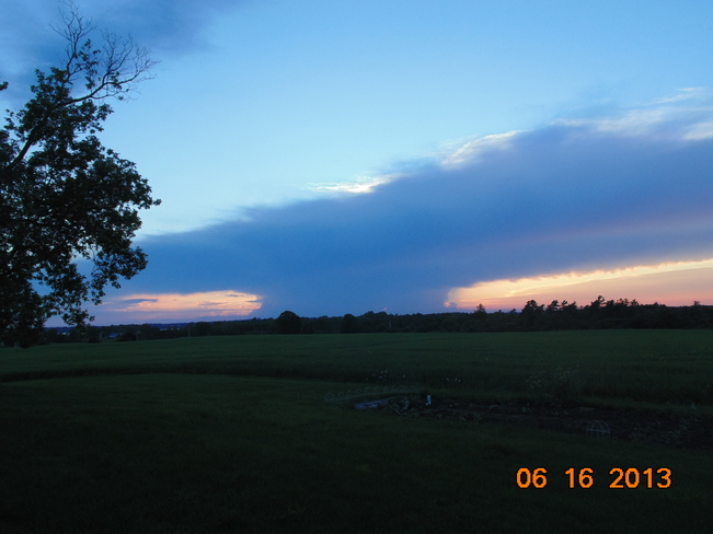 Beautiful Cloud Formation Gannon Village, Ontario Canada