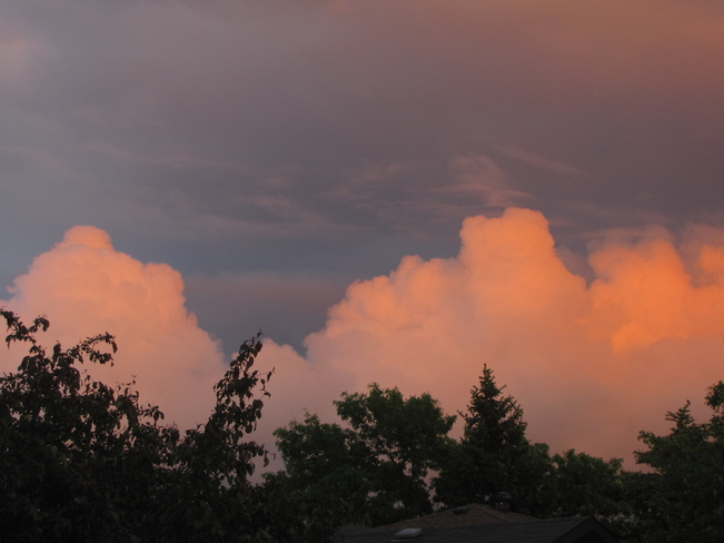 Rain Clouds at Sunset Regina, Saskatchewan Canada