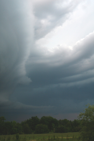 Storm moving to east Glencairn, Ontario Canada