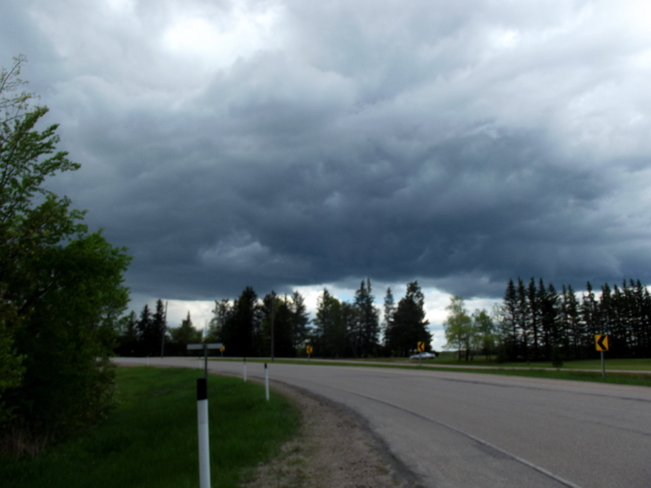 Storm Clouds moving in Elma, Manitoba Canada