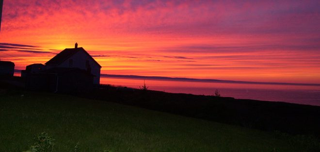 Sunset over the Atlantic New Waterford, Nova Scotia Canada