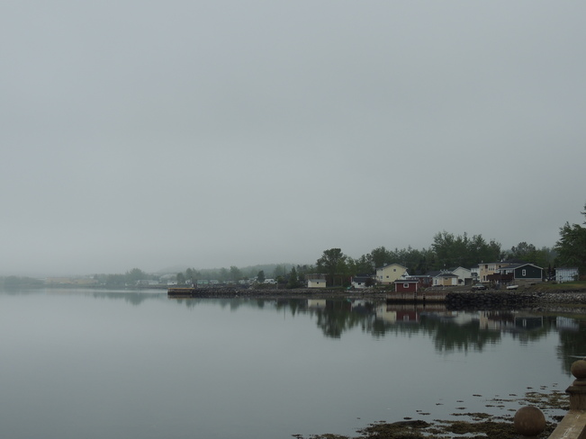 Fog in the Harbour Lewisporte, Newfoundland and Labrador Canada