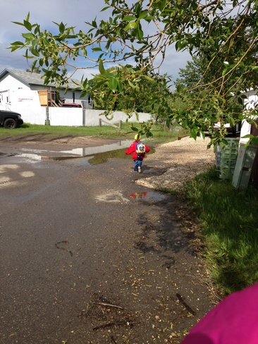 little man puddle jumping Grande Prairie, Alberta Canada