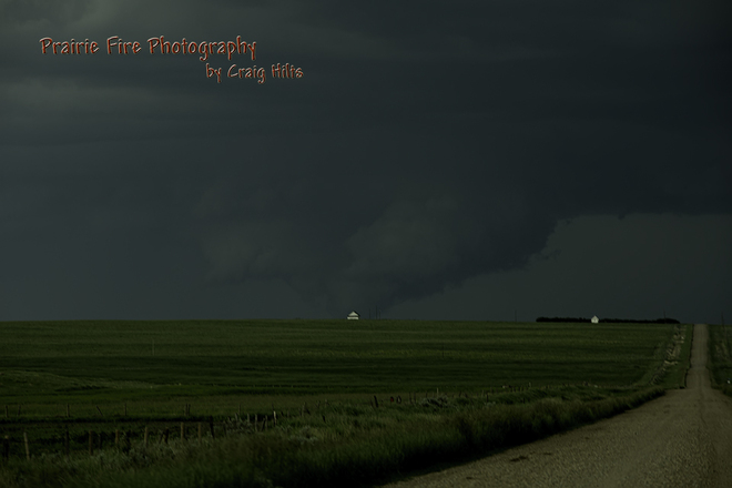 Tornado on the ground Bow Island, Alberta Canada