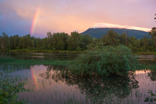 After the storm Enderby, British Columbia Canada