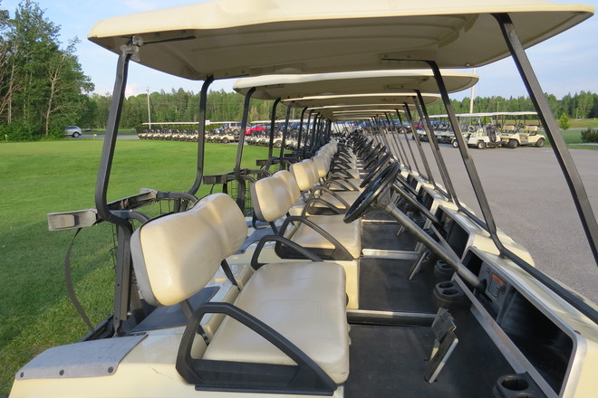 Golf carts are ready Timmins, Ontario Canada