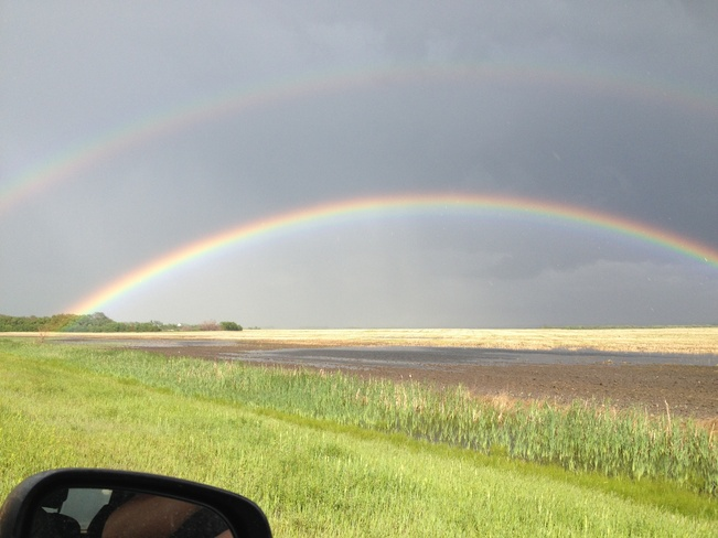 double rainbow Warman, Saskatchewan Canada