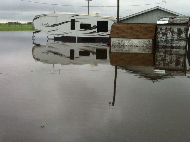Flooding in Reston Reston, Manitoba Canada