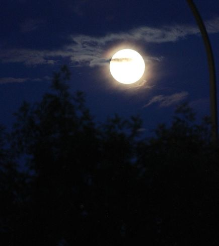 Full Moon in June Humboldt, Saskatchewan Canada
