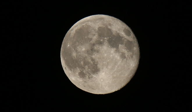 Waning Gibbous Moon - 99% of Full Prince George, British Columbia Canada