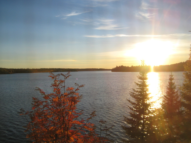 Fall at Lac Lu Kenora, Ontario Canada