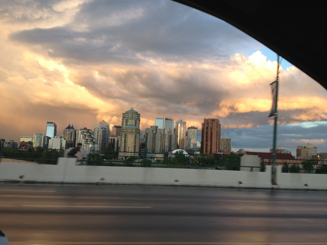 Amazing clouds over downtown Calgary Calgary, Alberta Canada
