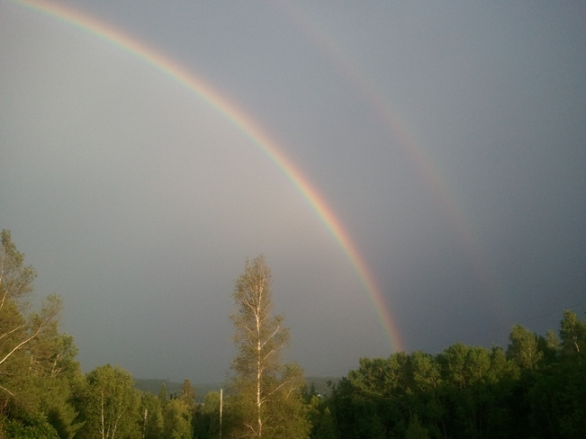 Double Rainbow Brunswick, New Brunswick Canada