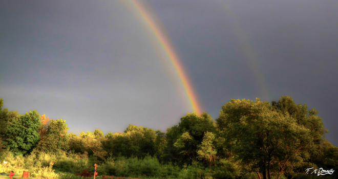 Awesome Rainbow after yesterday's thunderstorms Smiths Falls, Ontario Canada