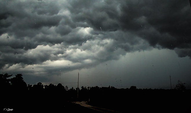 Thunderstorm Approaching Smiths Falls, Ontario Canada