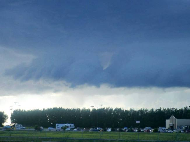 Scary looking clouds Portage La Prairie, Manitoba Canada
