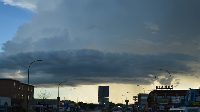 Alien cloud Winnipeg, Manitoba Canada