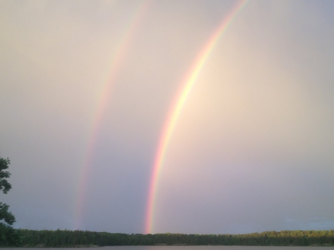 Double Rainbow after the Storm Kenora, Ontario Canada