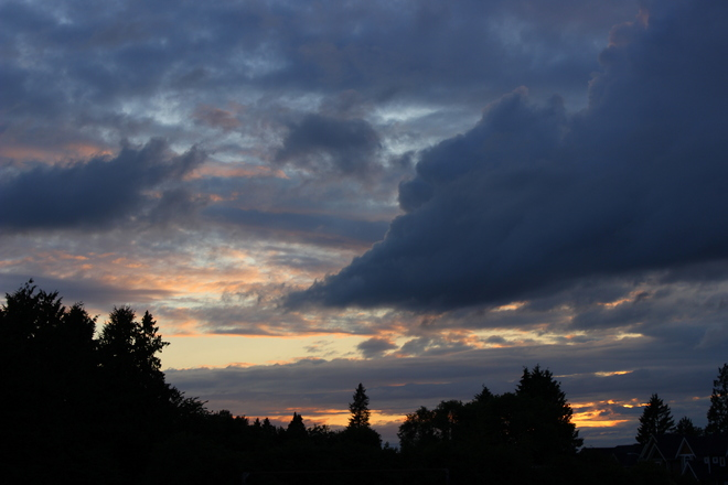 june 26 sunset Surrey, British Columbia Canada