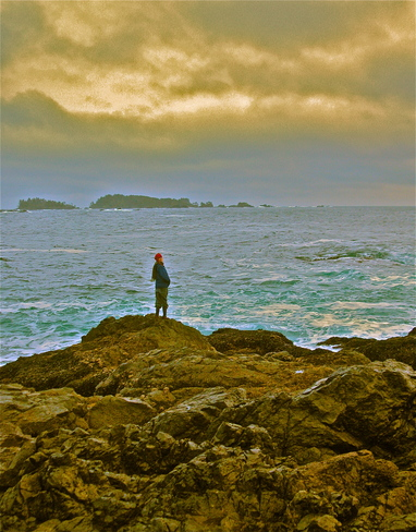 watching the waves Ucluelet, British Columbia Canada