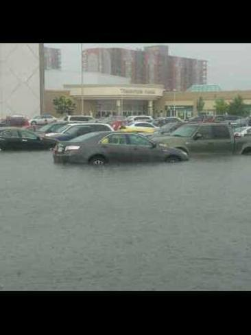 flooded mall Kitchener, Ontario Canada