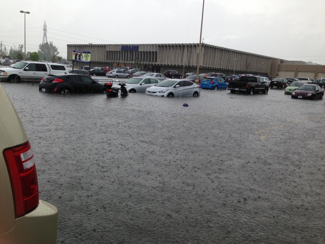 Fairview Mall Kitchener Flooding Kitchener, Ontario Canada