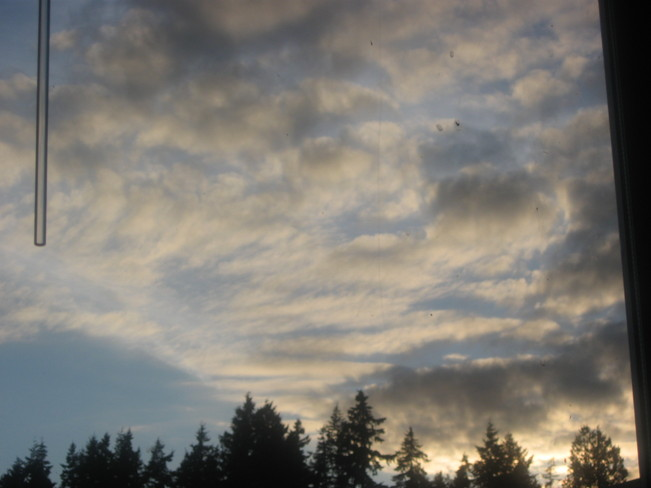 evening approaching Surrey, British Columbia Canada