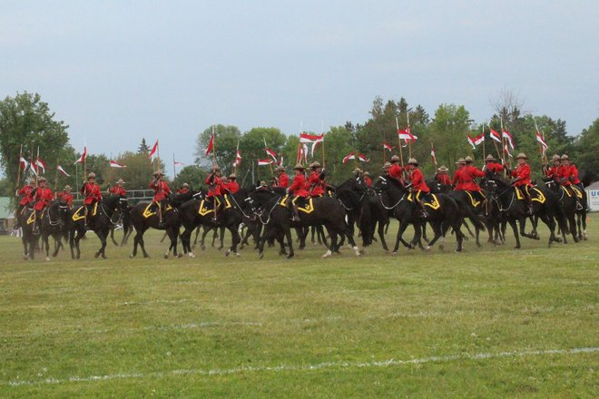 The 2013 RCMP Musical Ride Sault Ste. Marie, Ontario Canada