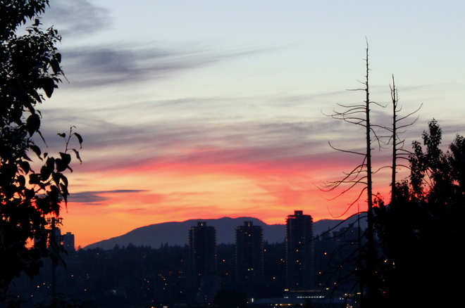 penthouse sunset New Westminster, British Columbia Canada