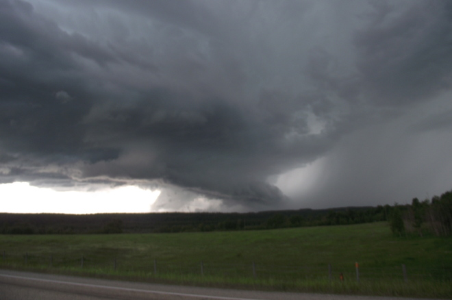 Bad Rainstorm in Caroline area! Caroline, Alberta Canada
