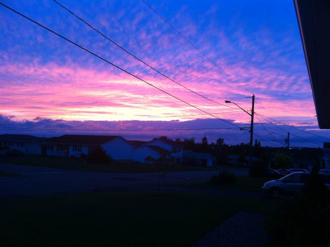 Red sky at night Riverview, New Brunswick Canada