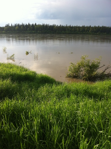 north sask river really high Prince Albert, Saskatchewan Canada