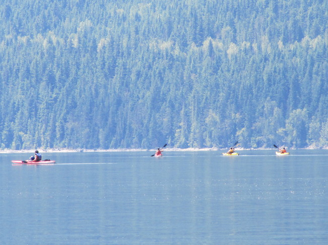 Kayaks and canoes Cherryville, British Columbia Canada