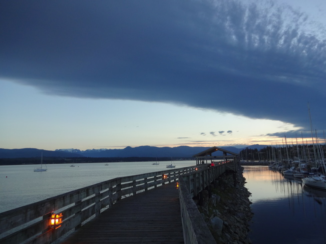 cloud formation Comox, British Columbia Canada