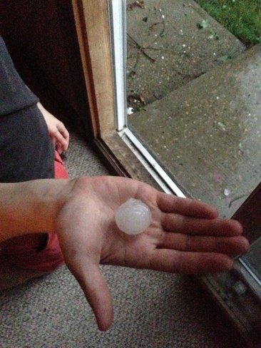golf ball sized hail clareview Edmonton, Alberta Canada