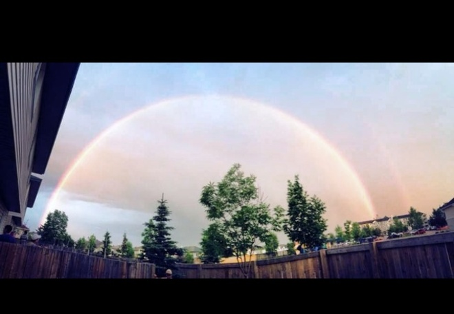 After rain Fort McMurray, Alberta Canada