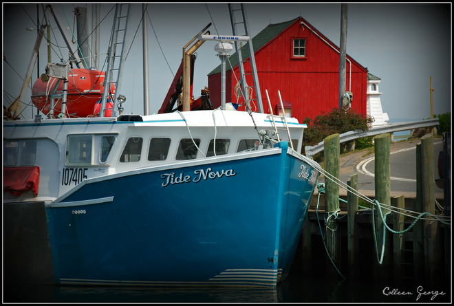 At The Wharf Canning, Nova Scotia Canada
