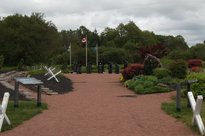 Veterans Memorial Garden Bass River, Nova Scotia Canada