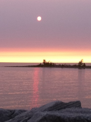 sunset by the marina Port Elgin, Ontario Canada